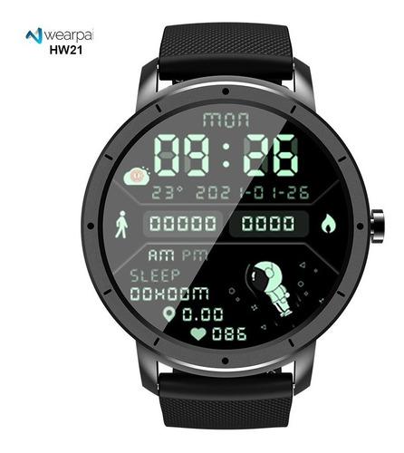 Relógio Smartwatch Redondo Hw21 Com Discagem Astronauta