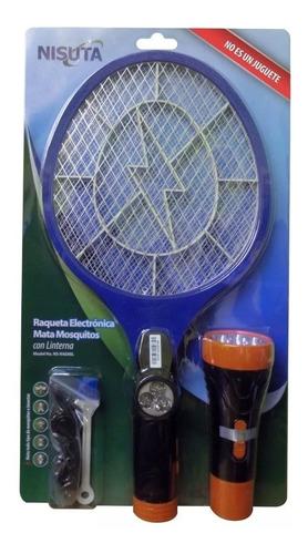 Raqueta Recargable Con Linterna Mata Mosquitos- Bgui