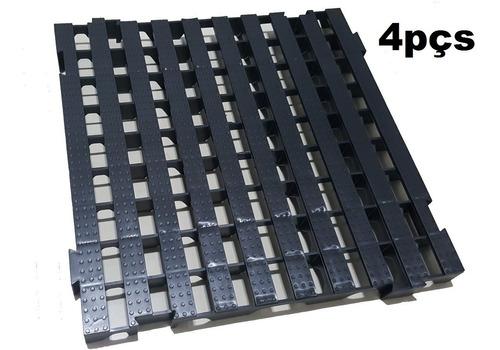 4pcs Palete Estrado Plástico / Pallet Plástico 50x50 X 4,5cm