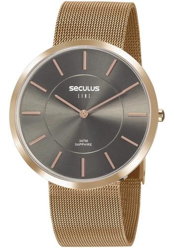 Relógio Masculino Seculus Line Sapphire 20773lpsvrs4