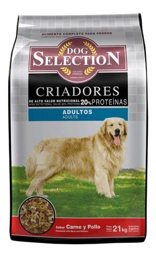 Alimento Dog Selection Criadores Para Perro Adulto De Raza Mediana/grande Sabor Carne/pollo En Bolsa De 21kg