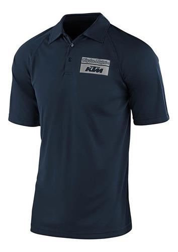 Camisa Polo Troy Lee Ktm Team Event Azul