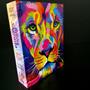 Bíblia Jovem Masculino Feminina Leão Azul Harpa Avivada