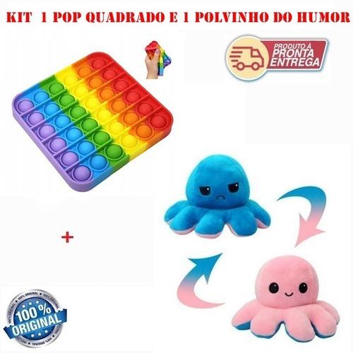 Kit Pop It Fidget Alivio D Estresse E Polvo Humor Reversivel