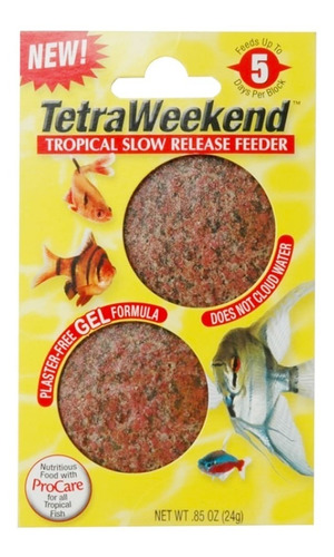 Alimento P/ Peces Week End Gel Tetra Vacation 5 Dias