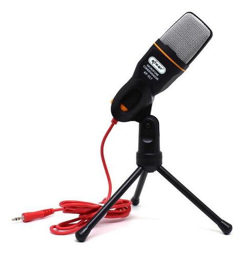Microfone Knup Kp-917 Condensador  Omnidirecional Preto
