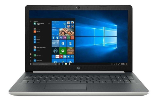 Notebook Hp 15-da2030la Plateada Natural 15.6 , Intel Core I3 10110u  4gb De Ram 256gb Ssd, Intel Uhd Graphics 620 1366x768px Windows 10 Home