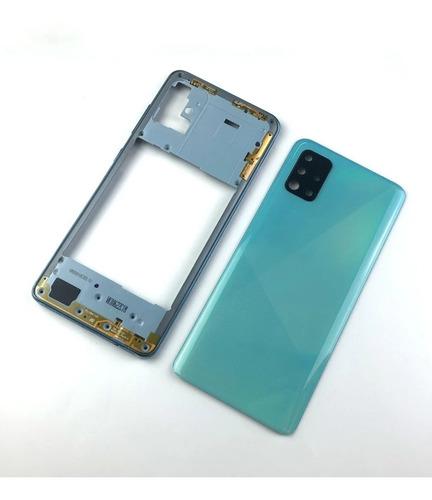 Carcaça Completa Aro E Tampa Samsung A51 A515f Gaveta Chip