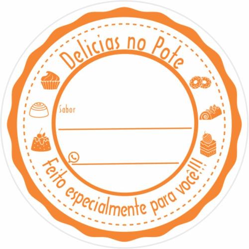 500 Etiqueta Adesivo Bolo No Pote Delicias No Pote