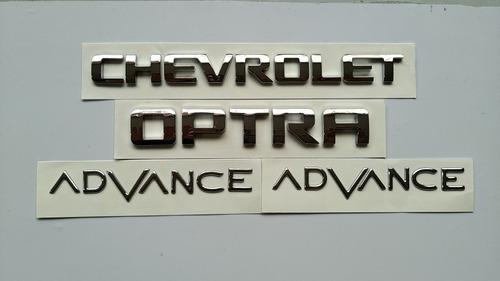 Set De Emblemas  Chevrolet Optra