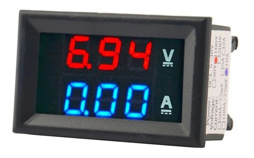 Voltímetro Amperímetro Digital Dc 0-100v 0-10a