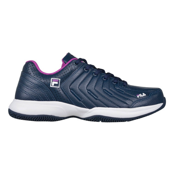 Zapatillas Fila Tenis Lugano 5.0 W Mujer Blanco Azul O Negro