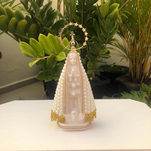 Nossa Senhora Aparecida 23cm Com Perola E Coroa Resplendor