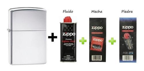 Combo Zippo Mod 250 + Fluido+piedras+mecha + Grabado Gratis
