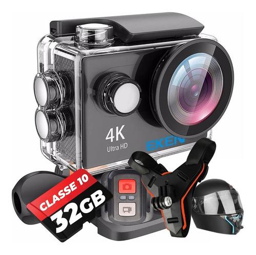 Câmera Esportiva Eken H9r + Memória + Suporte Capacete Moto
