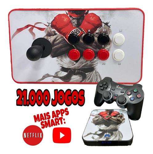 Super Game 21.000 Jogos C/ 1 Controle Arcade Usb