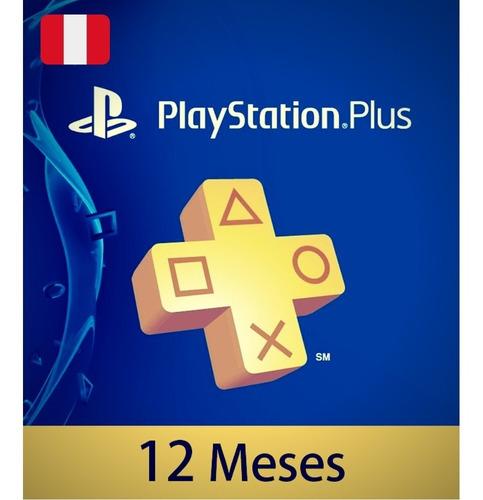 Playstation Plus 12 Meses Perú-  Ps Plus Ps4