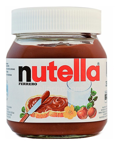 Nutella Ferrero 350g Grande Chocolate Cacao Postre