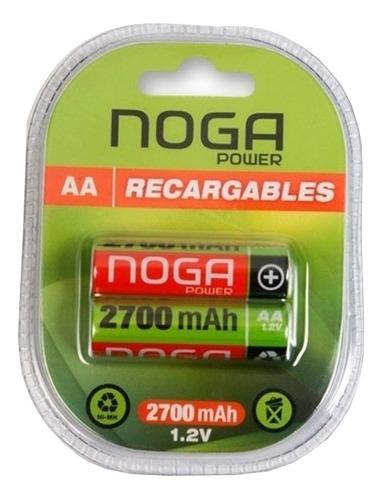Pila Aa Noga Recargable Np-aam 2.7b Cilíndrica - Pack De 2 Unidades