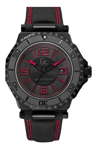 Reloj Guess Gc Collection Dial Negro Pvd  X79007g2s