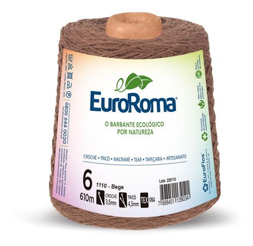 Barbante Euroroma 600g Fio N6 - Envio Imediato