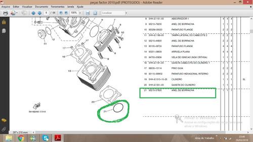 93210-57800 Oring Cilindro  Yamaha  Ybr Factor 125* Original