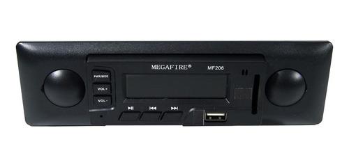 Autoestéreo Para Auto Megafire Mf206 Con Usb Y Lector De Tarjeta Sd