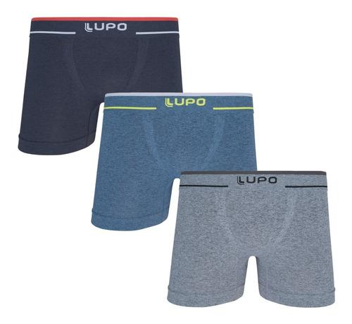Kit 3 Cueca Lupo Boxer Plus Size Tamanho Grande Box