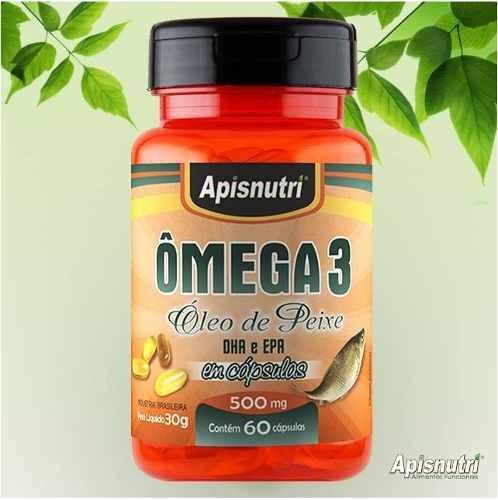 Omega 3 500mg 180 Caps Apisnutri O Melhor Do Mercado Original