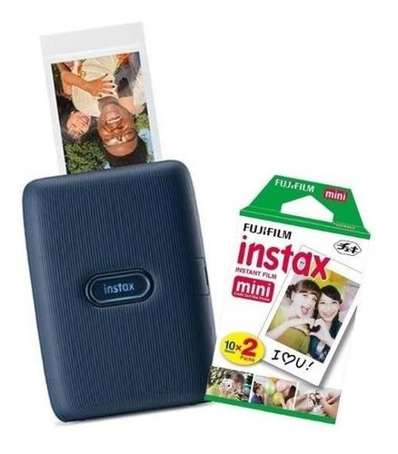 Impressora Instax Mini Link Dark Denim + 20 Filmes Coloridos