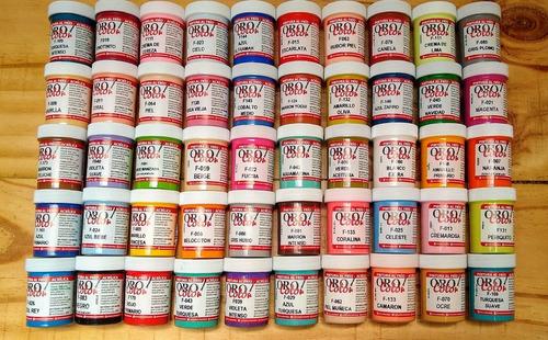 Kit 50 Colores Variados Pintura Acrilica Orocolor