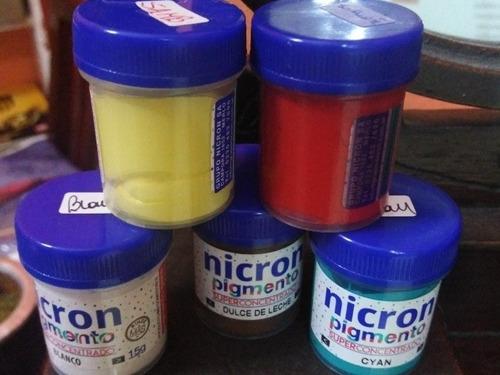 Pigmentos Para Teñir La Porcelana, Nicron