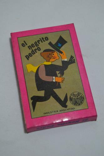 Antiguos Naipes Cartas Negrito Pedro - Nuevos