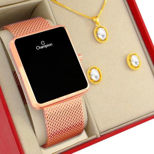 Relógio Champion Feminino Rose Original 1 Ano De Garantia