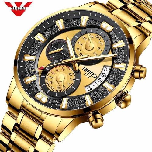 Relógio Masculino Nibosi 2020 Luxo Funcional