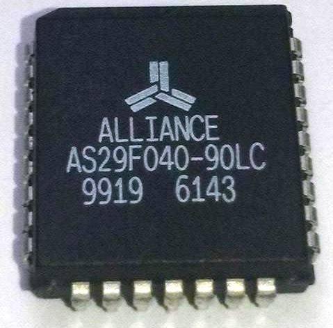 29f040 Plcc-32 (as29f040-90lc) Lote C/ 10 Pçs