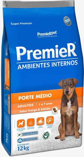Ração Premier Cães Adultos Medio Porte Frango E Salmão 12kg