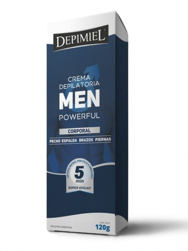 Crema Depilatoria Depimiel Men Powerful Corporal Piel Normal 120 g