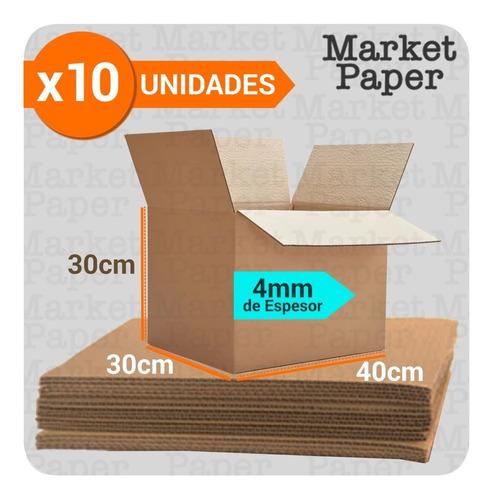 Caja Carton Embalaje 40x30x30 Mudanza Reforzada X10