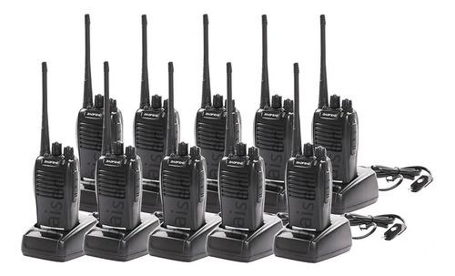 Kit 10 Radio Comunicador Walktalk Talkabout Profissional 777