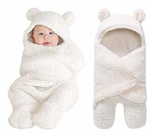 Manta Cobertor En Sleeping Para Bebe Recien Nacido Blanco