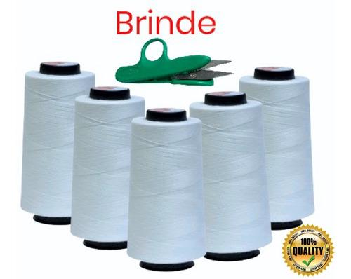 5 Linhas Costura Branca Reta Industrial Doméstica 2 Mil Jds