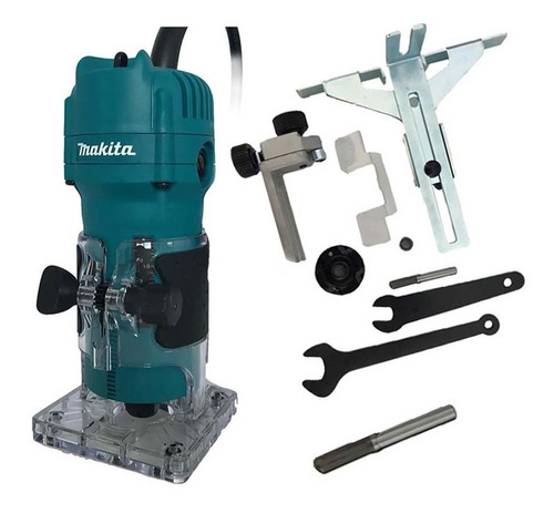 Tupia Manual Elétrica Fixa 530w 6 Mm (1/4 ) - 3709 - Makita