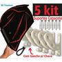 5 Kit Suporte Capacete De Parede Para Pendurar Chaves Casaco