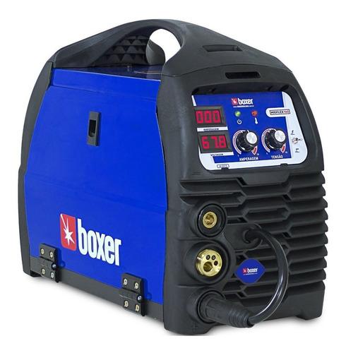 Máquina De Solda Inverter Boxer Migflex 160 Bv Azul E Preta 110v/220v
