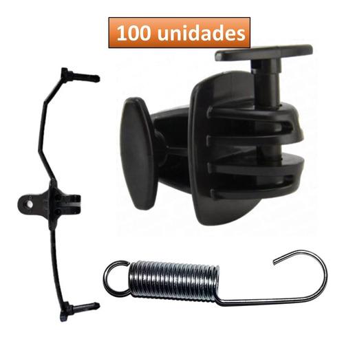 Aislador Doble Pin Lock + Resorte Cerco Eléctrico X 100 Unid