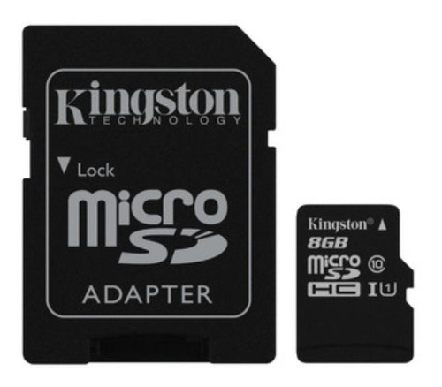 Cartão De Memória Kingston Sdc10g2 Com Adaptador Sd 8gb