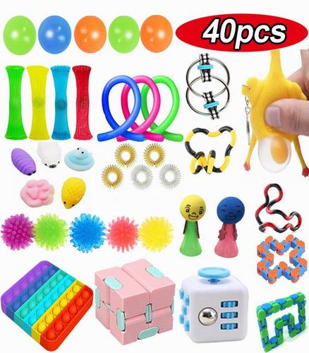 40 Pçs/set Fidget Sensorial Stress Relief Toys Kit