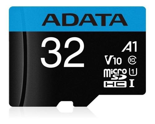 Tarjeta De Memoria Adata Ausdh32guicl10a1-ra1  Premier Con Adaptador Sd 32gb