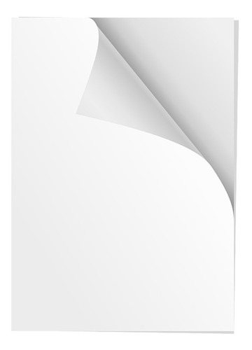 100 Hojas Papel Adhesivo Brillante P3h Tamaño Carta